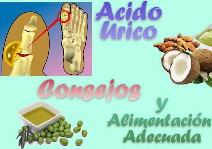 alimentación para bajar el acido urico