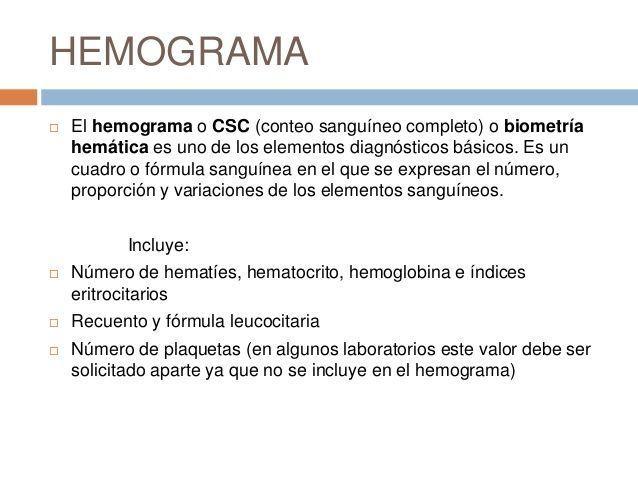 niveles del hemograma